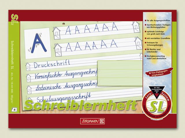 Schulheft A4 quer Lineatur SL Schreiblernheft