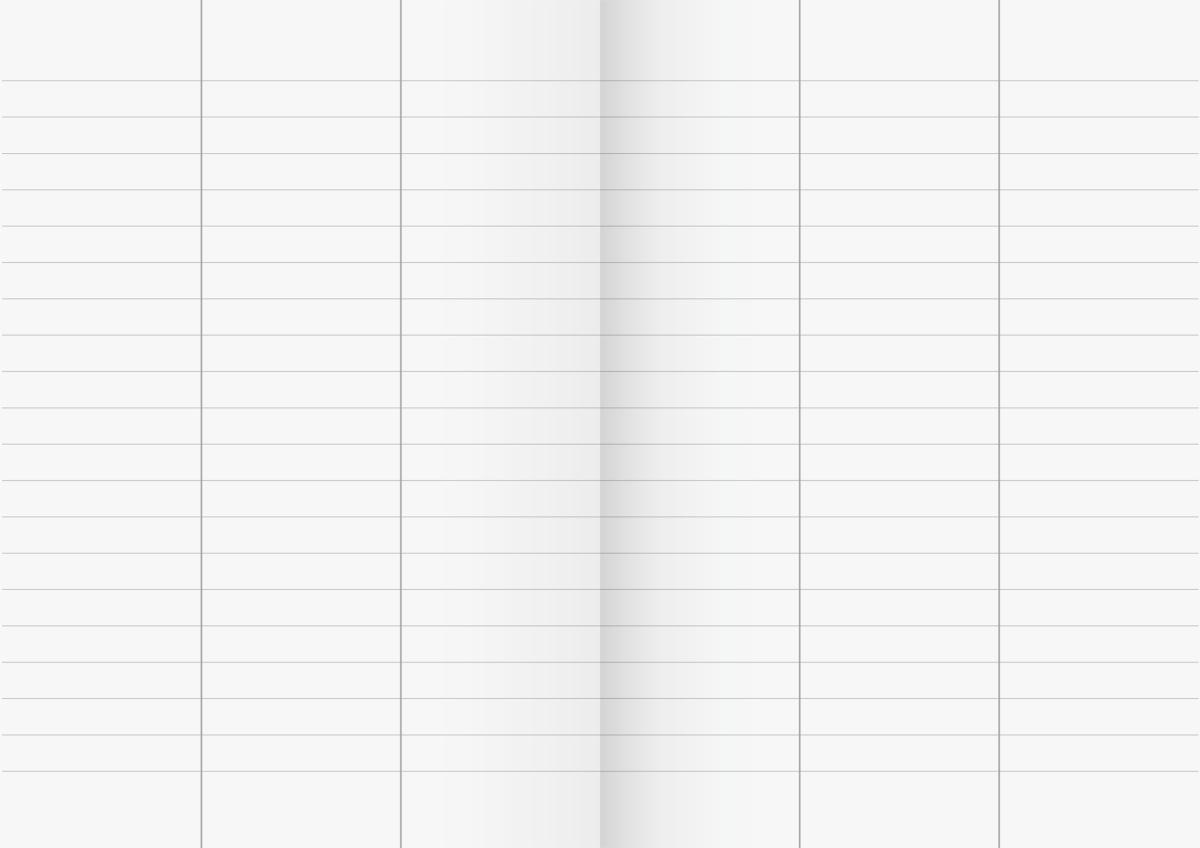 Vokabelheft a4 mit 3 spalten von brunnen lineatur 54 for Tabelle mit 9 spalten