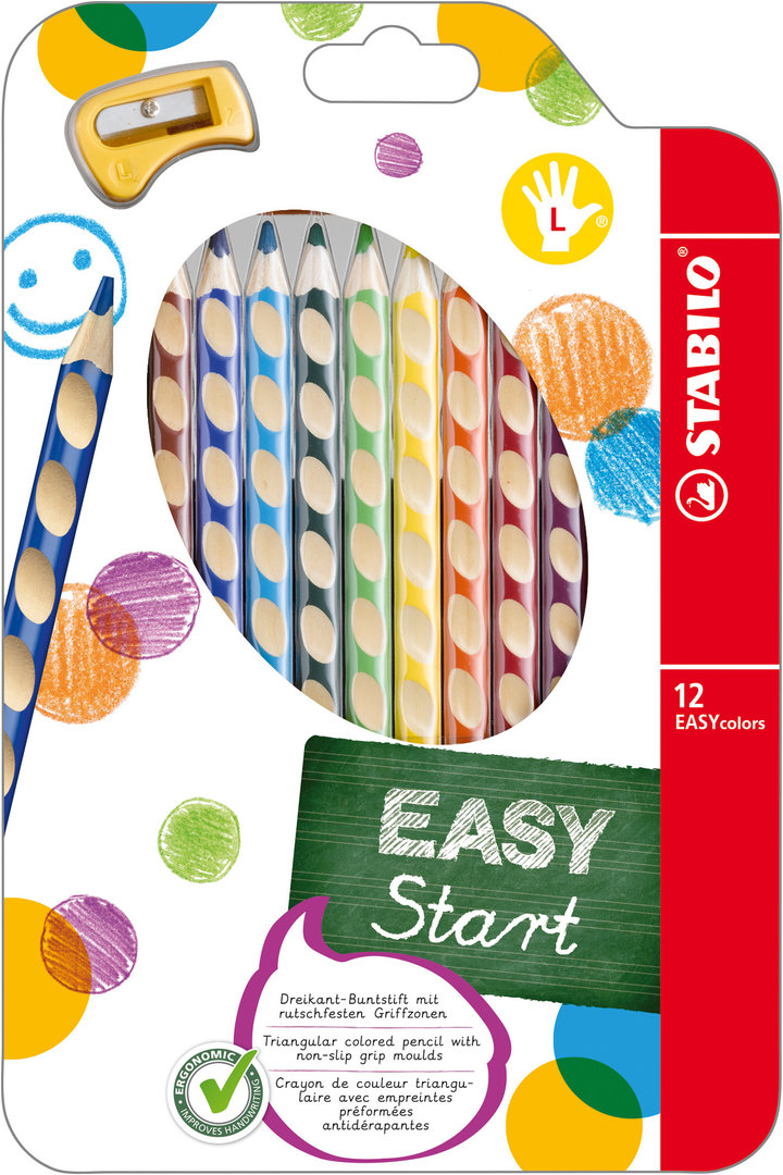 Stabilo EASYcolor Farbstifte Linkshänder 12er Set
