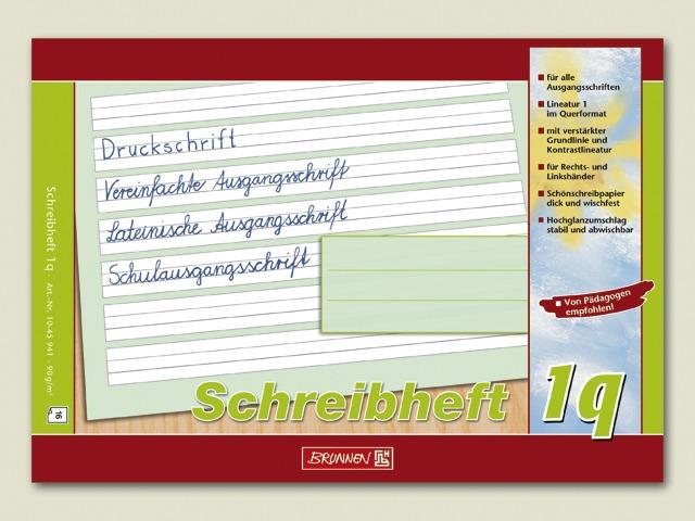Schulheft A5 quer Lineatur 1q Schreiblernheft