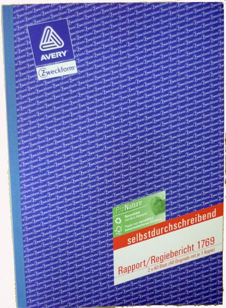 Rapport/Regiebericht A4 Zweckform 1769