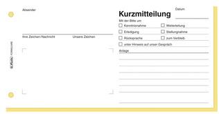 Kurzmitteilung Formular Herlitz Sd Din Lang