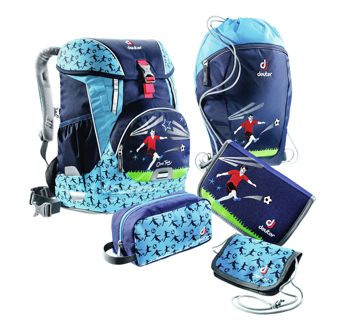 One Two navy soccer Schulranzen Set Sneaker Bag von Deuter