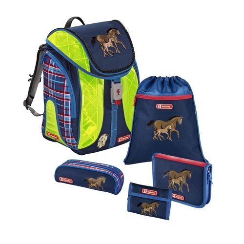 Horse Family DIN 58.124 Step by Step Flexline SchulranzenSet