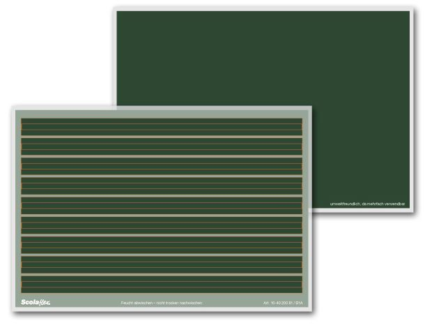 Schultafel mit schwamm leer  Schreiblerntafeln + Zubehör - Skolaflex